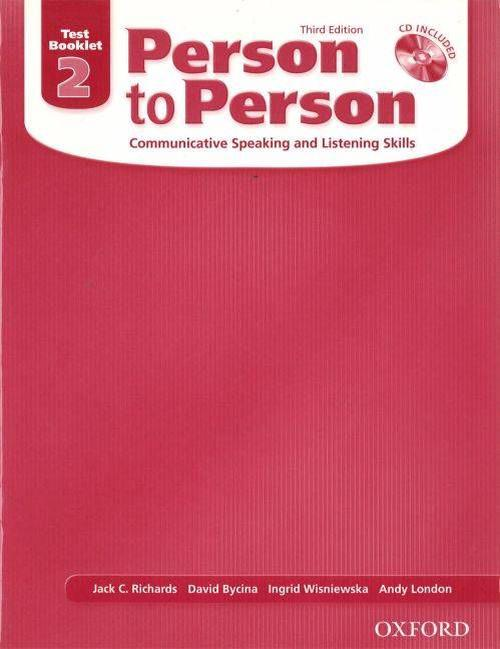 Person to Person 2, Test Booklet: Communicative Speaking and Listening Skills [With CDROM]