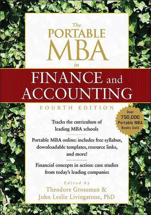 The Portable MBA in Finance and Accounting
