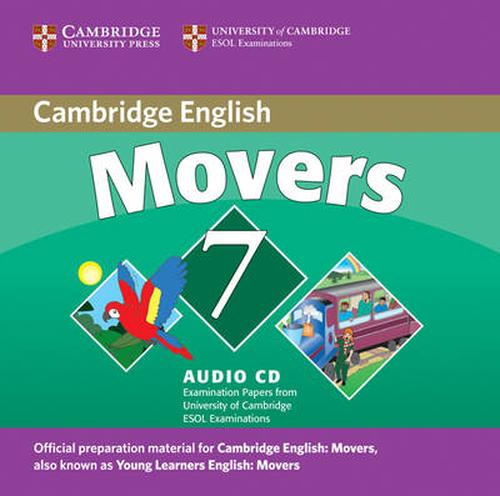 Cambridge Young Learners English Tests 7 Movers Audio Cd
