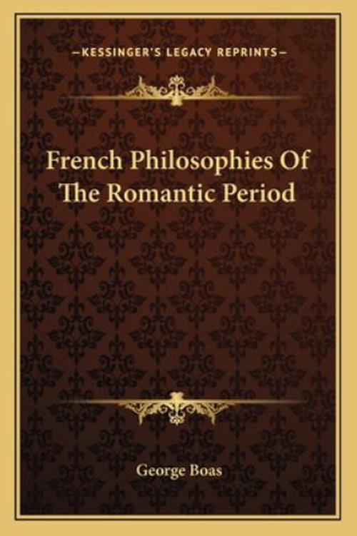 French Philosophies of the Romantic Period