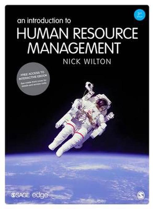 an introduction to the overview of human resource management Introduction human resource management is defined as a system of activities and strategies that the role of human resources in healthcare organizations 7.