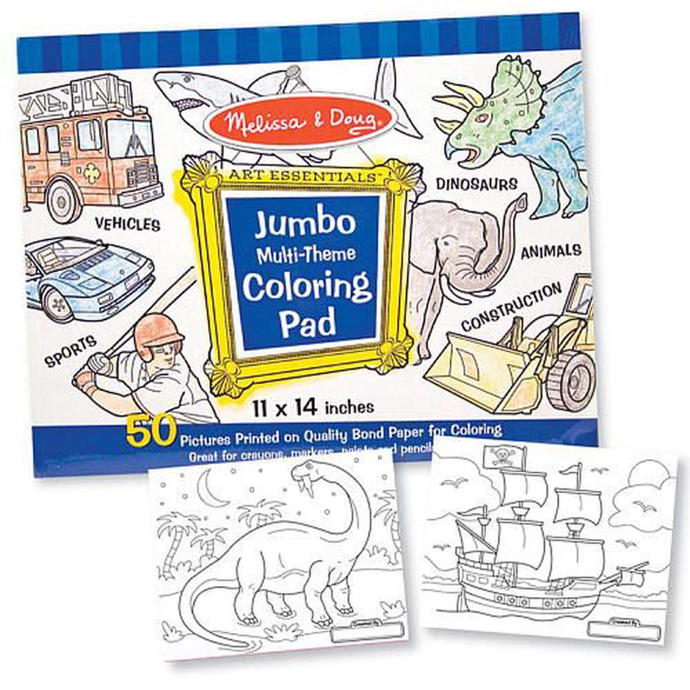 Melissa & Doug Jumbo Coloring Pad - Blue   Buy online at The Nile