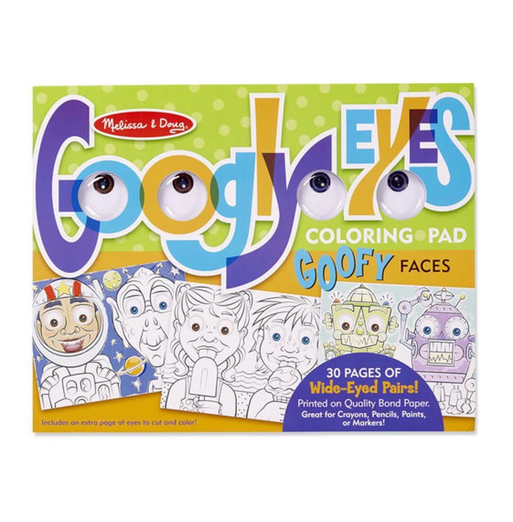 Melissa & Doug Googly Eyes Coloring Pad - Goofy Faces | Buy online ...