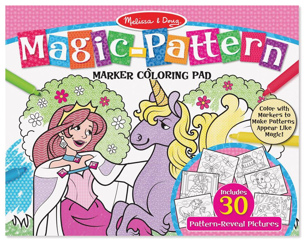 Melissa & Doug Magic-Pattern Marker Colouring Pad (Pink) | Buy ...