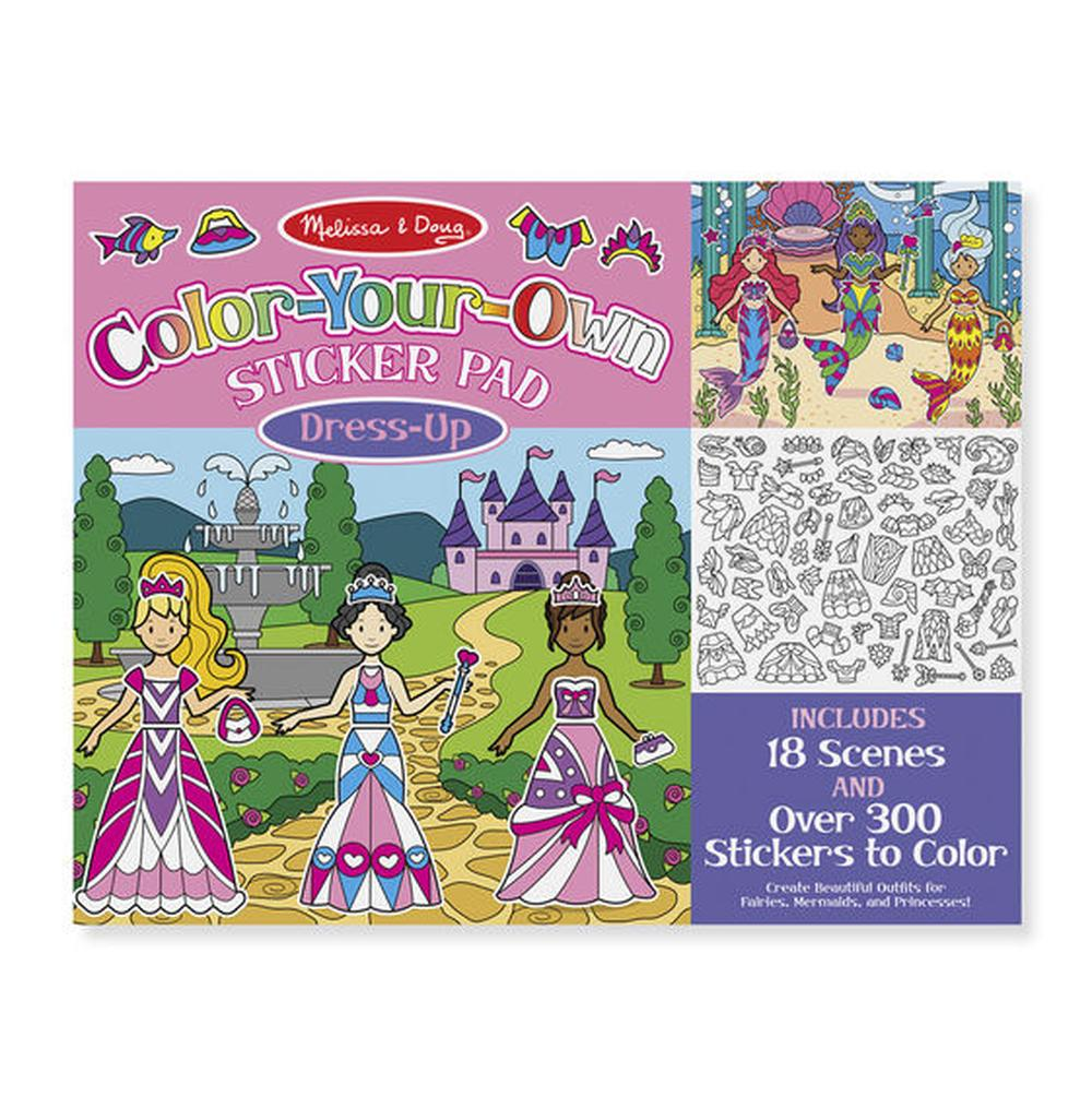Melissa & Doug Color-Your-Own Sticker Pad - Dress-Up | Buy online at ...