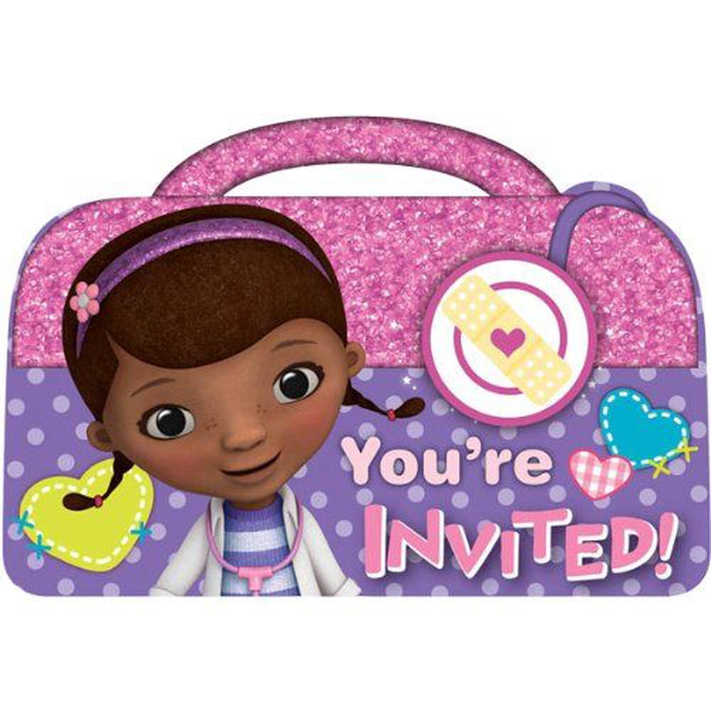 Amscan Doc McStuffins Birthday Party Invitations Cards Supply 8