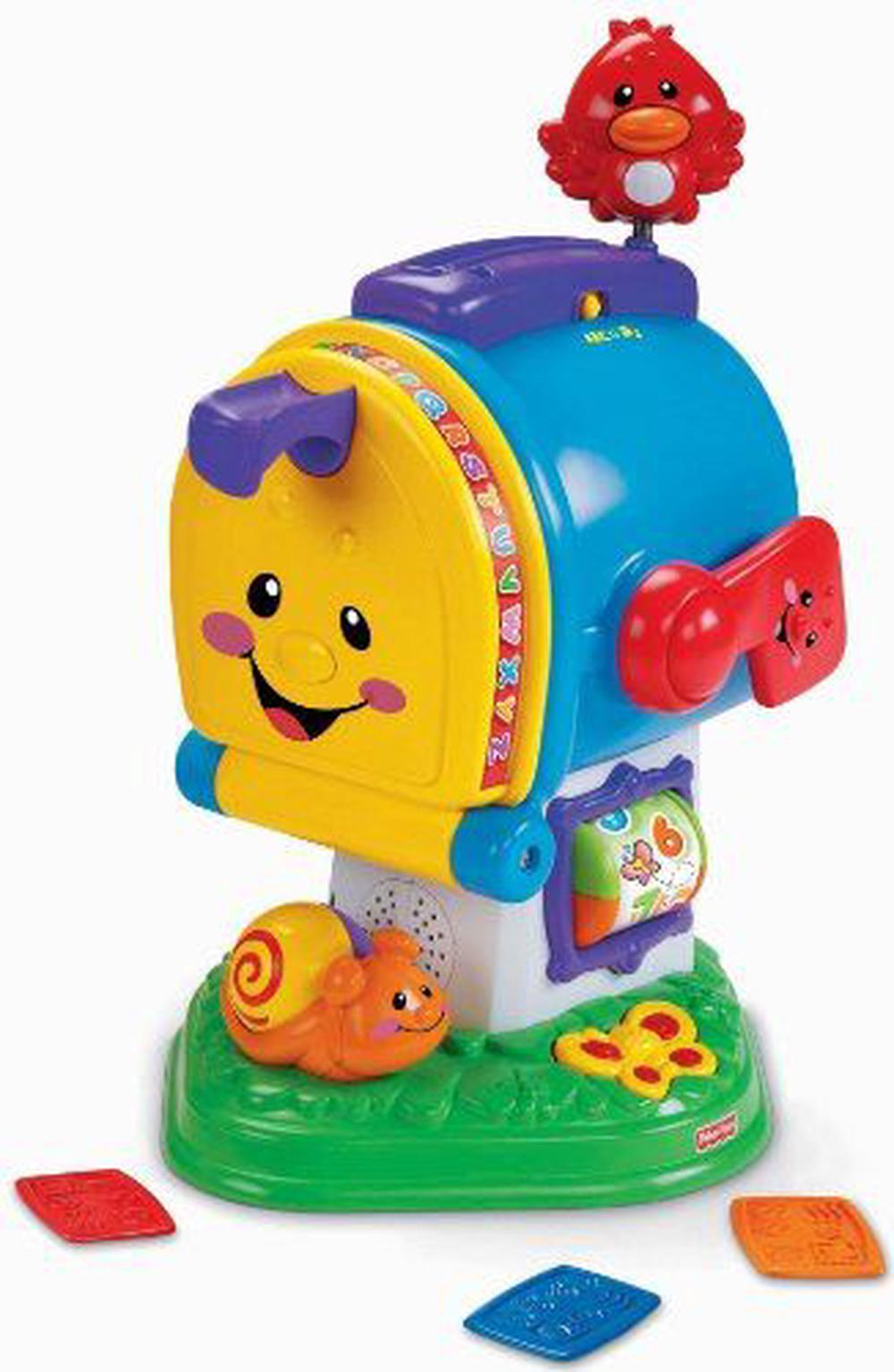 fisher price laugh learn learning letters mailbox buy online at rh thenile com au Bounce and Spin Zebra Jump and Bounce Zebra