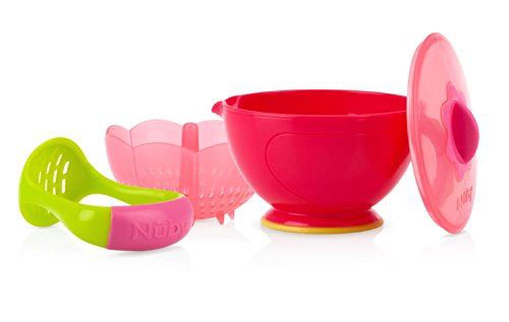 Nuby Garden Fresh Mash And Feed Easy Mash Bowl Cups, Dishes & Utensils Baby