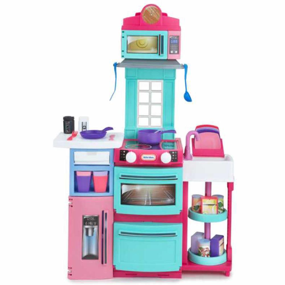 little tikes cook n store kitchen playset pink buy online at the nile - Kitchen Playset