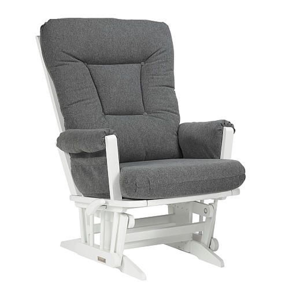 Dutailier Modern Grande Glider White Charcoal By
