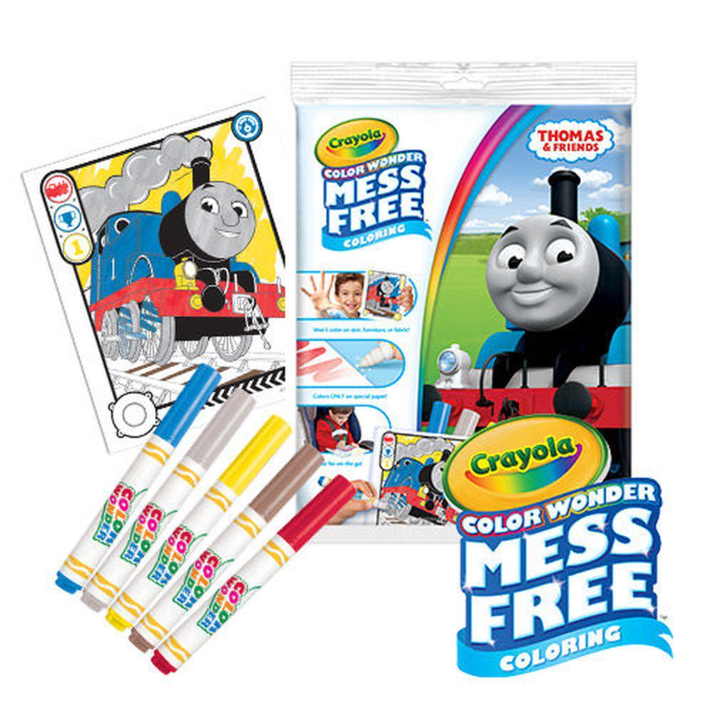 Crayola Coloring Book Set Color Wonder Thomas Friends
