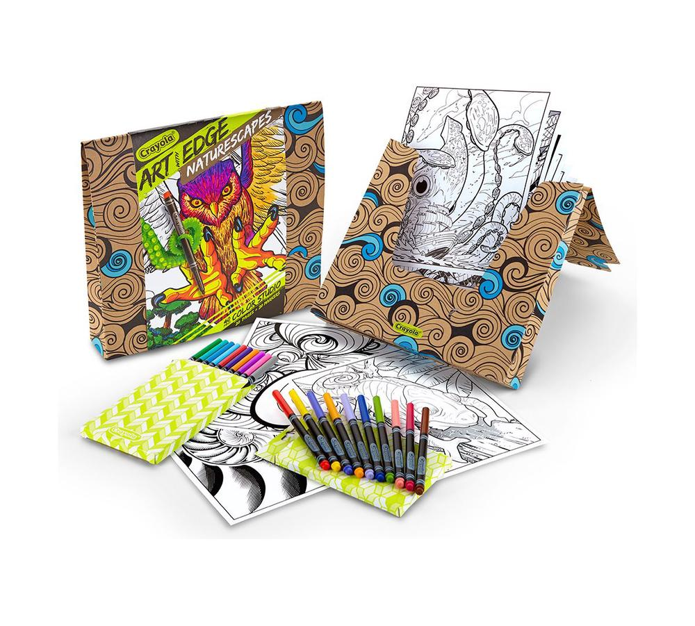 Crayola Coloring Book & Markers Kit - Art With Edge (Naturescapes)