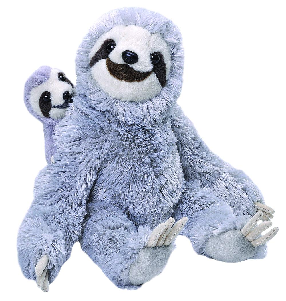 Wild Republic Mum & Baby (Sloth) - 30cm