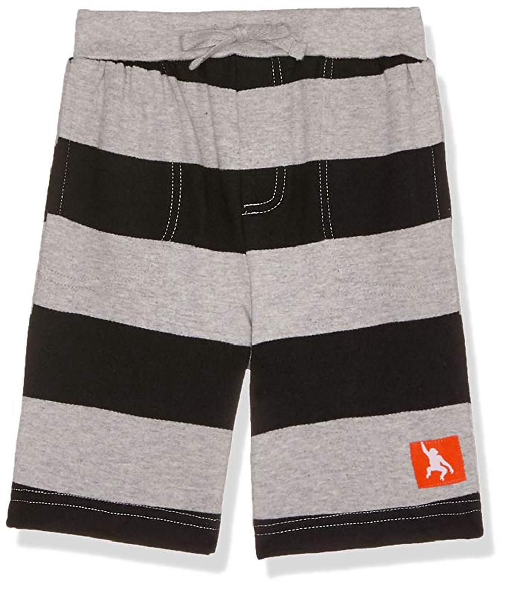 Wild Republic Ckids Shorts (Grey Marle/Black Stripe) - Size 2