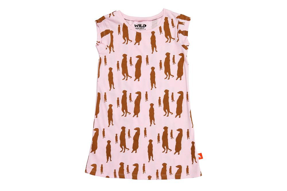 Wild Republic Printed Kids Dress (Meerkat) - Size 4