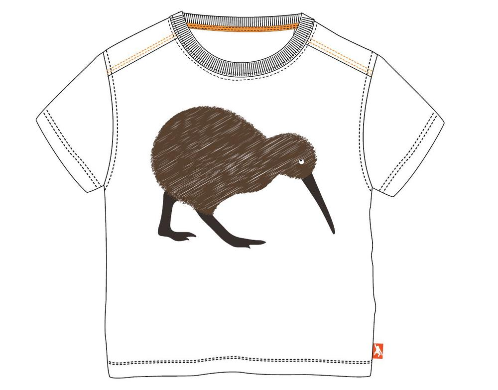 Wild Republic Kids Tshirt With Contrast Thread (Kiwi) - Size 2