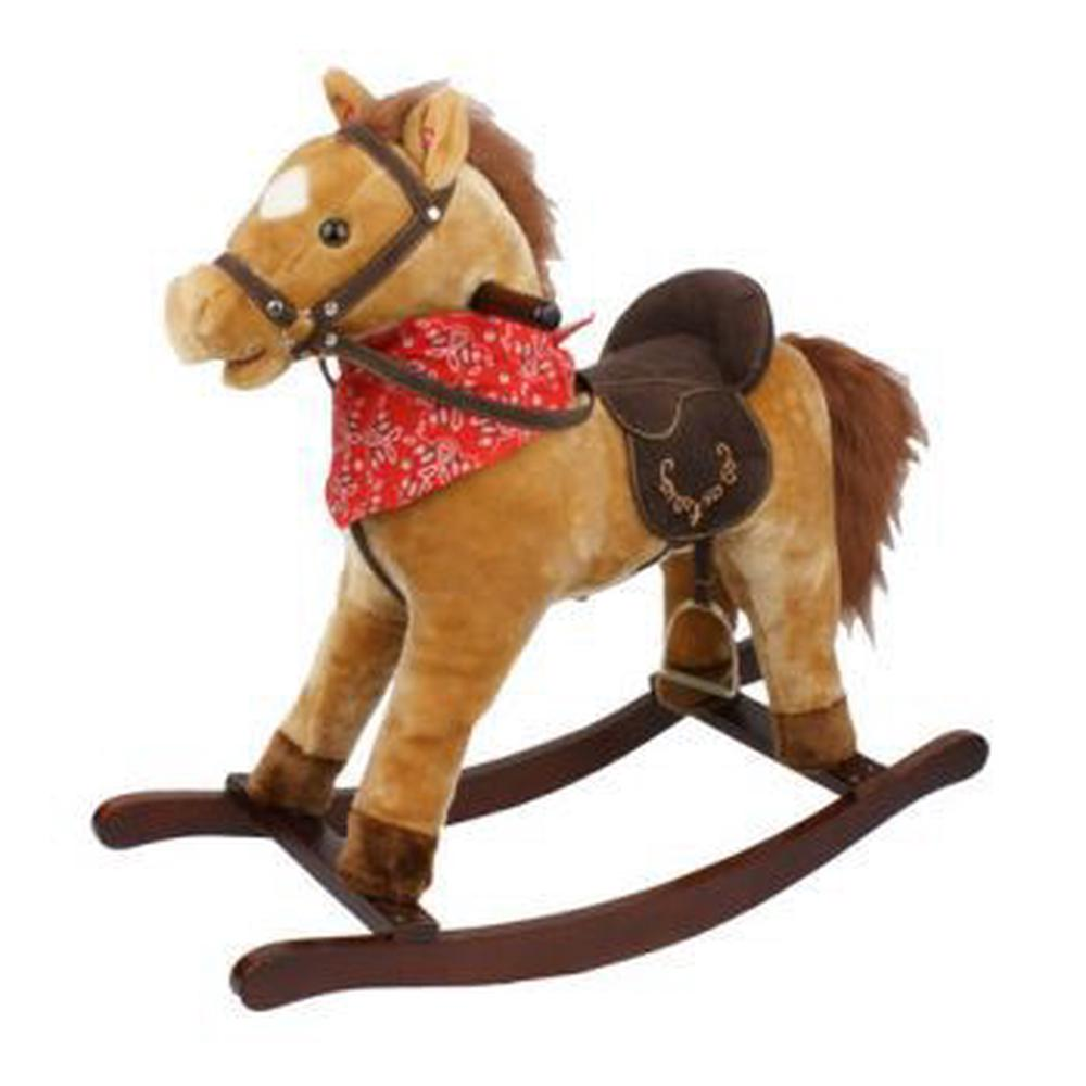 Jolly Ride Rocking Horse With Sounds (Tan)