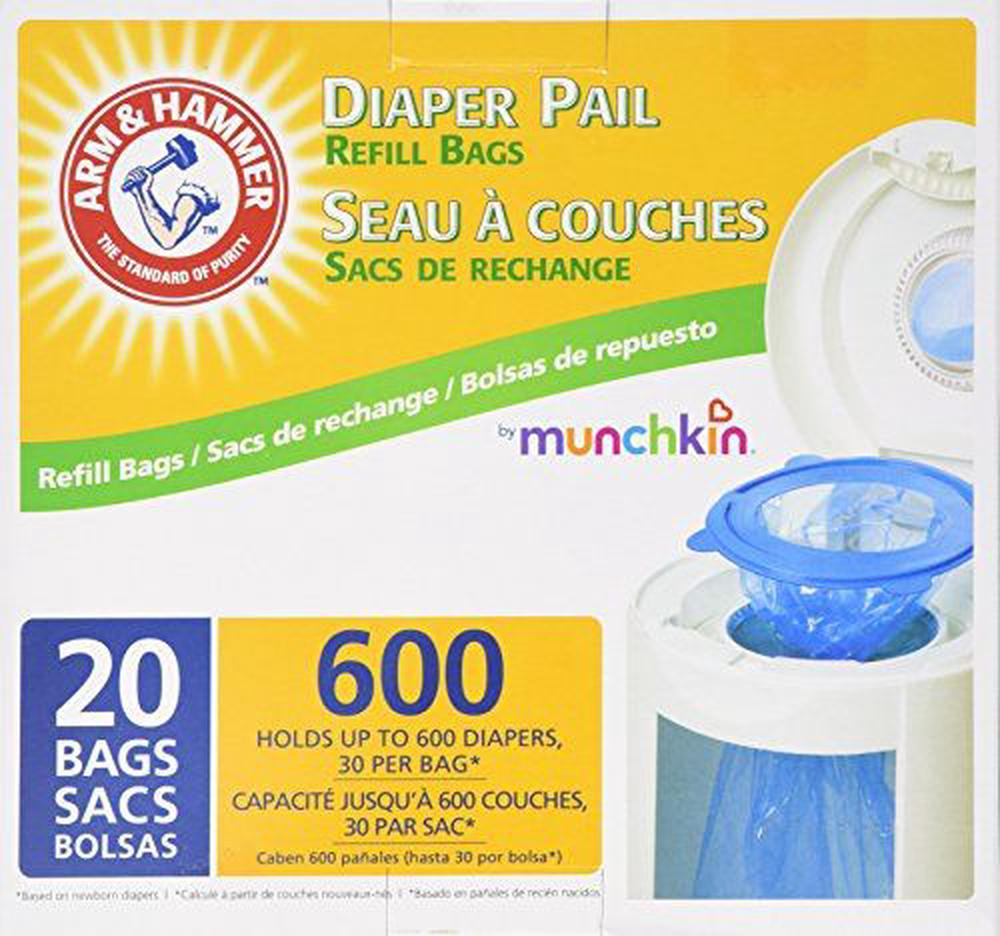 Munchkin Arm Hammer Diaper Pail Snap Seal And Toss Refill Bags Online At The Nile