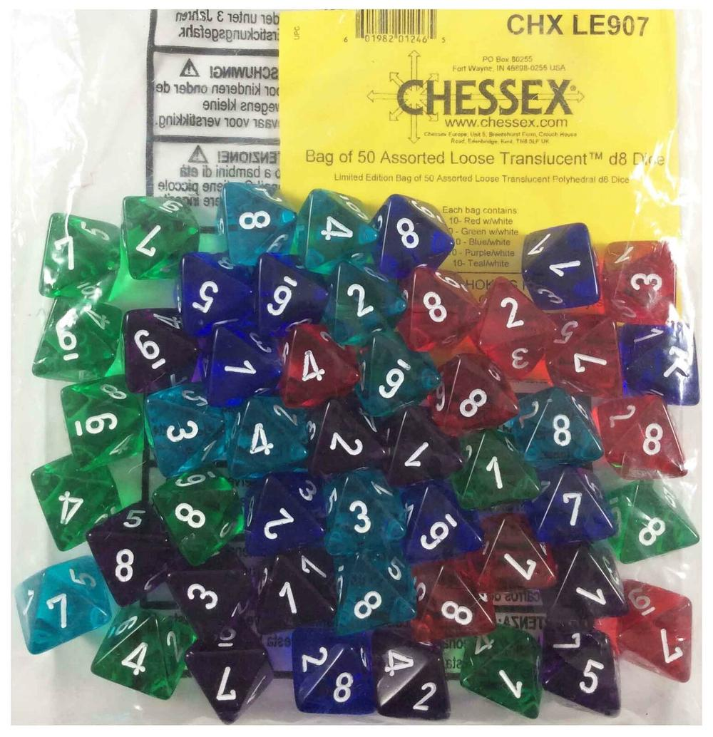 Ches Bulk Bag Of Dice Translucent