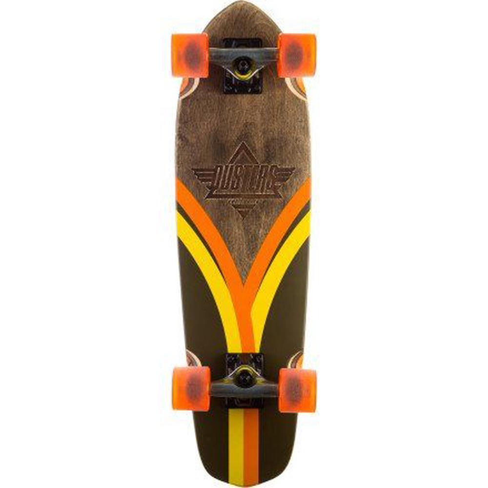 Duster Flashback Cruiser Complete Skateboard, Brown/Orange