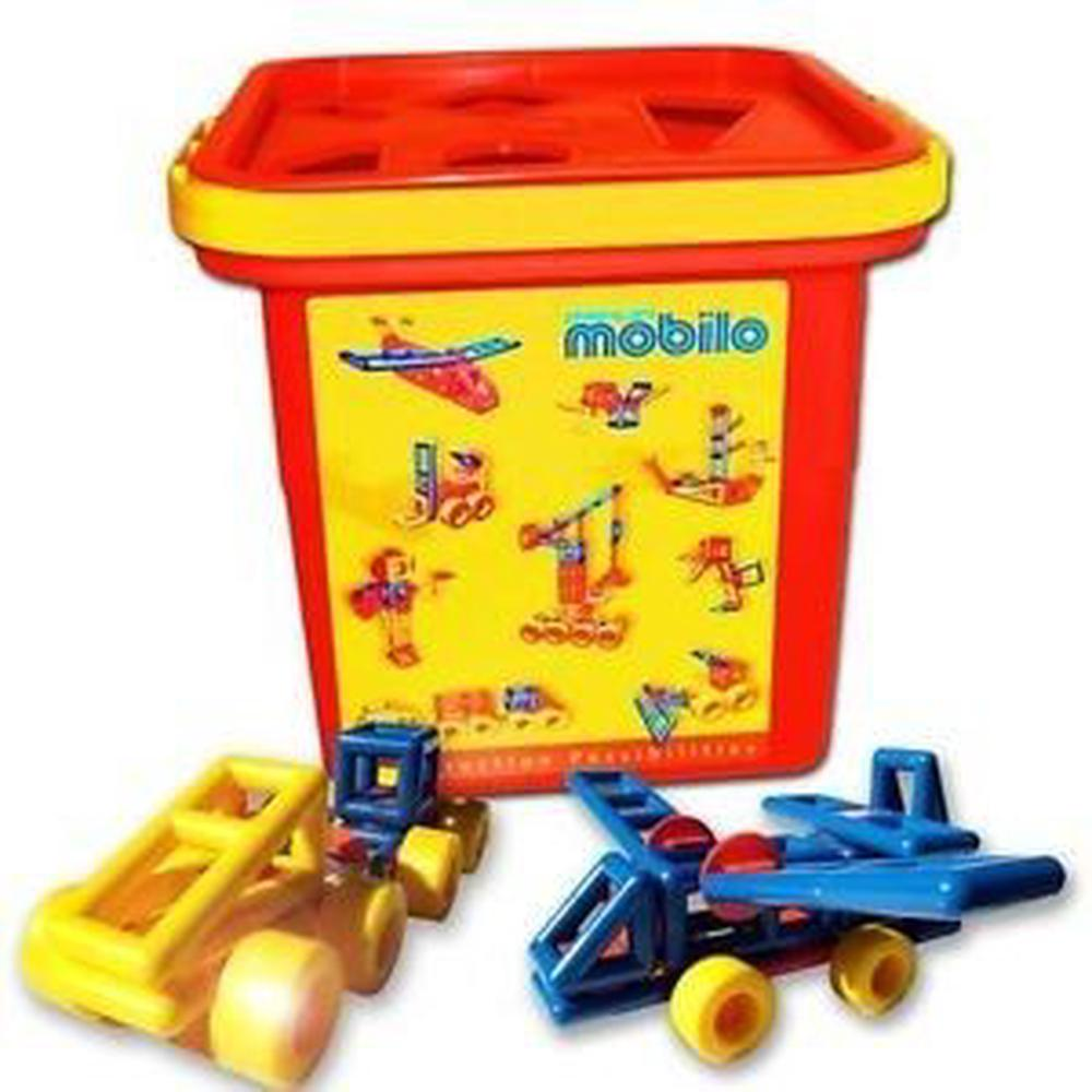 Mobilo Shape Sort Bucket (Bucket Colour May Vary)