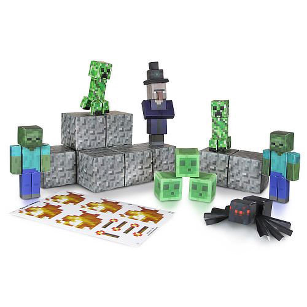 Minecraft papercraft action figures