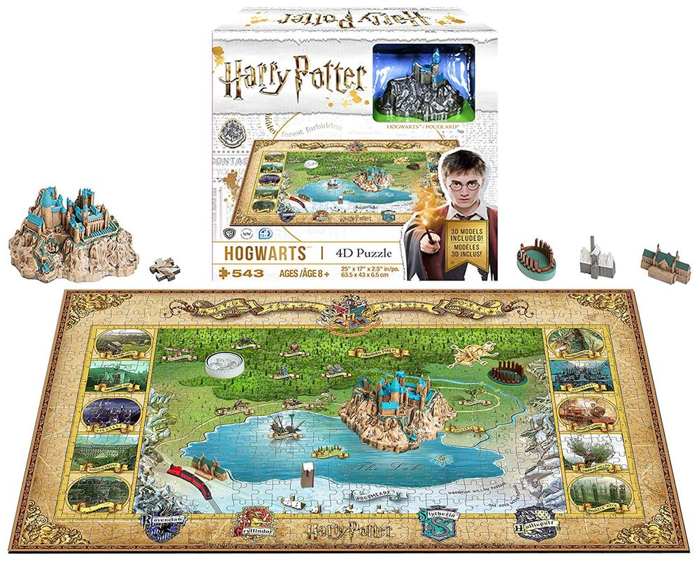 4D Cityscape Harry Potter - Hogwarts Mini 4D Jigsaw Puzzle, 500 Piece