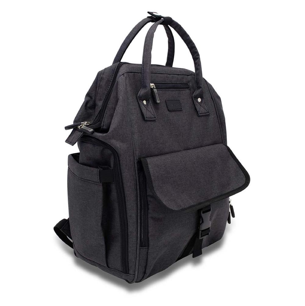La Tasche Urban Nappy Backpack (Black With Black trim)