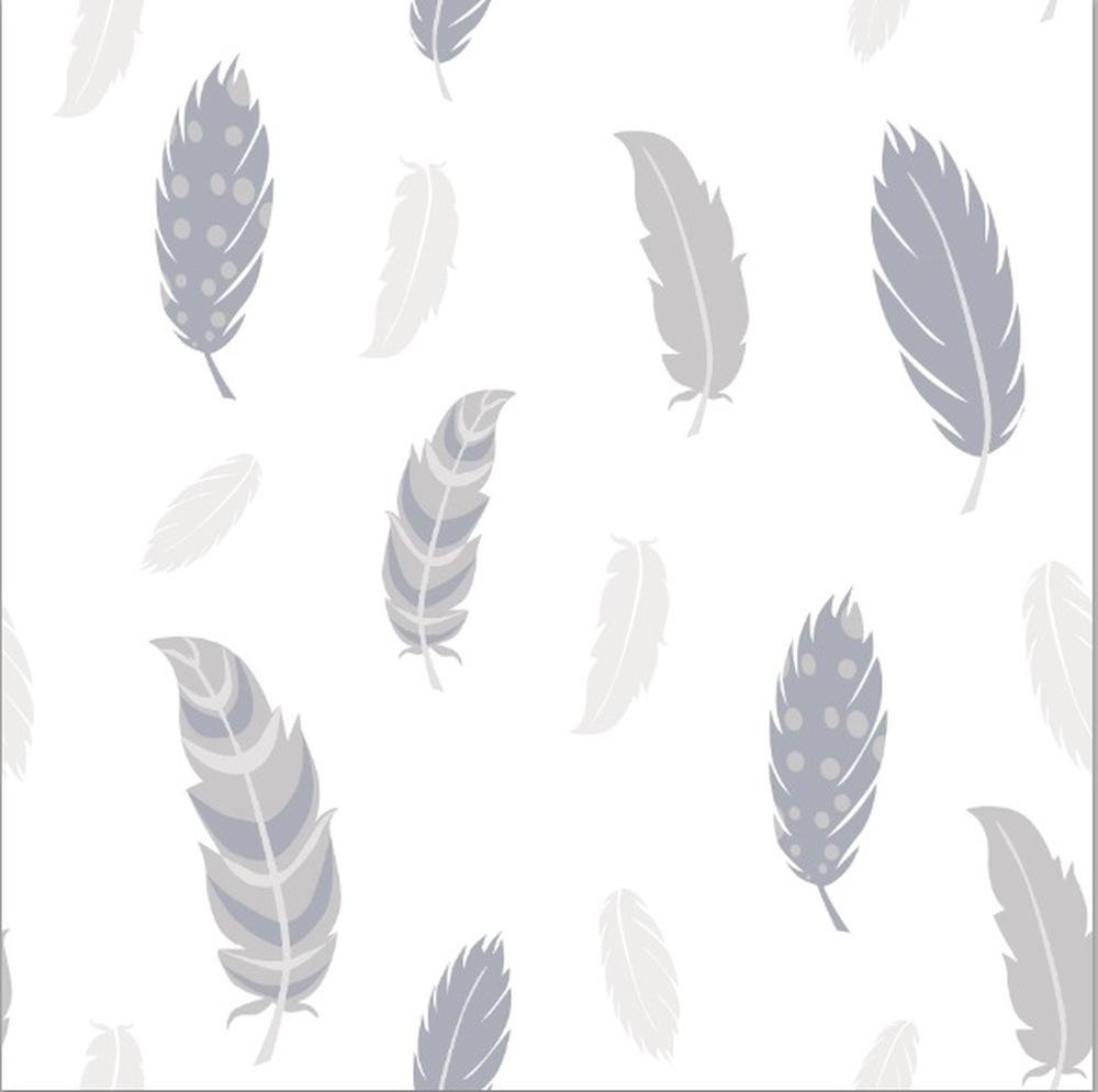 Spotty Giraffe 2 Layer Muslin Feather Wrap (Grey/Grey) - 120x120cm