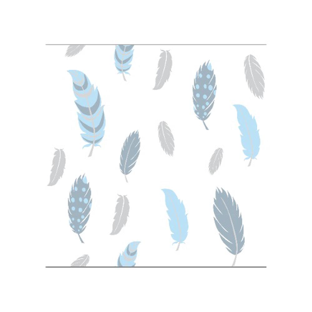 Spotty Giraffe 4 Layer Muslin Feather Wrap (Grey/Blue) - 120x120cm
