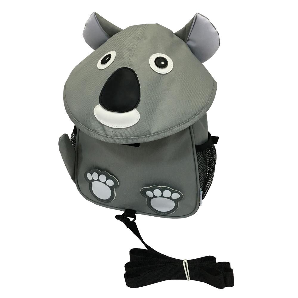 BibiKids Harness Backpack With Lead (Koala) - Medium