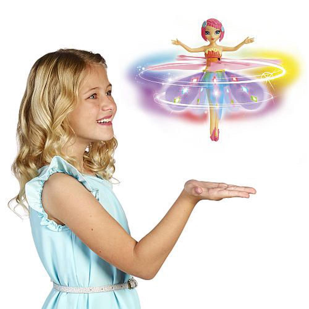 Spin Master Flutterbye Rainbow Deluxe Light Up Flying Fairy Doll