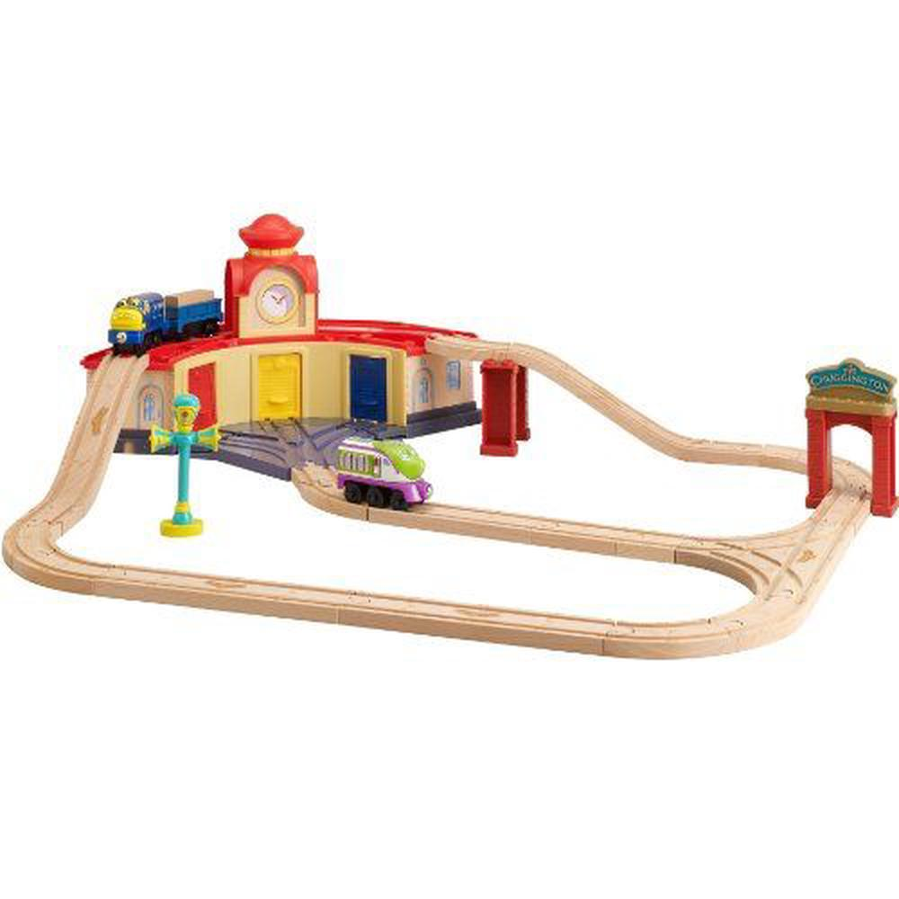 by Tomy  sc 1 st  The Nile & Tomy Chuggington 32 piece Roundhouse Wooden Train Set with Koko ...