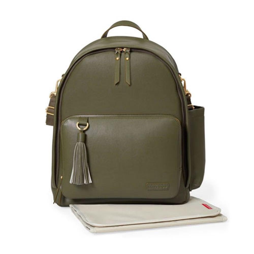 Skip Hop Greenwich Simply Chic Backpack (Olive)