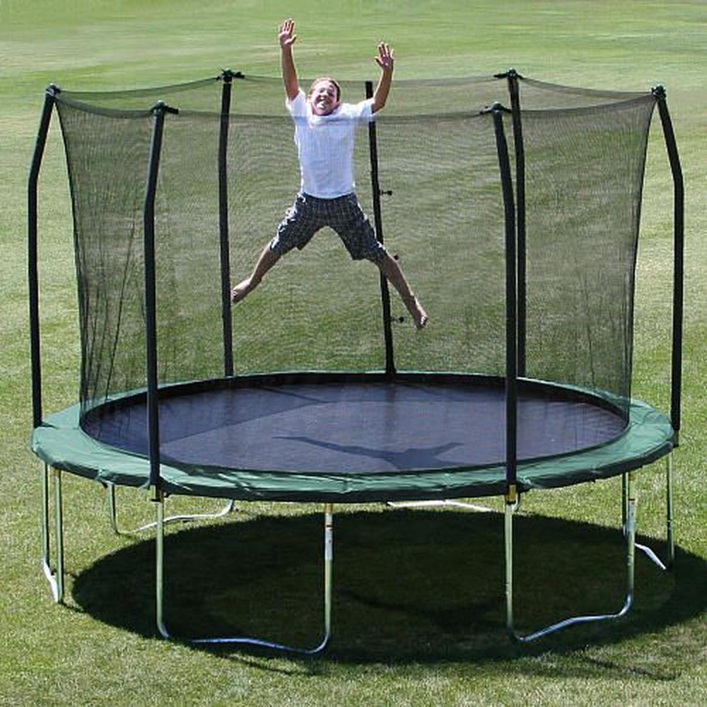 Skywalker Trampolines 12 Foot Round Trampoline And Enclosure Green By
