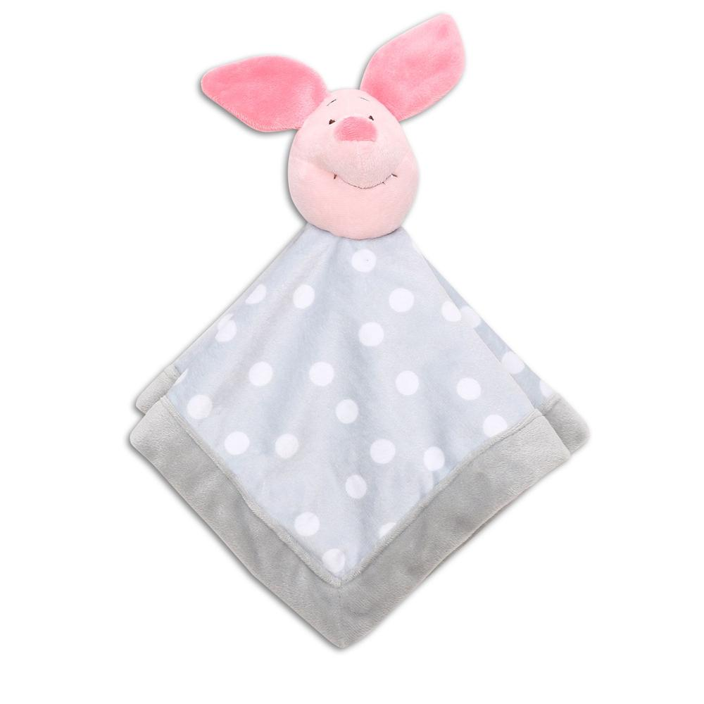 Disney Baby Pooh Let's Fly A Kite Comforter (Grey Piglet)