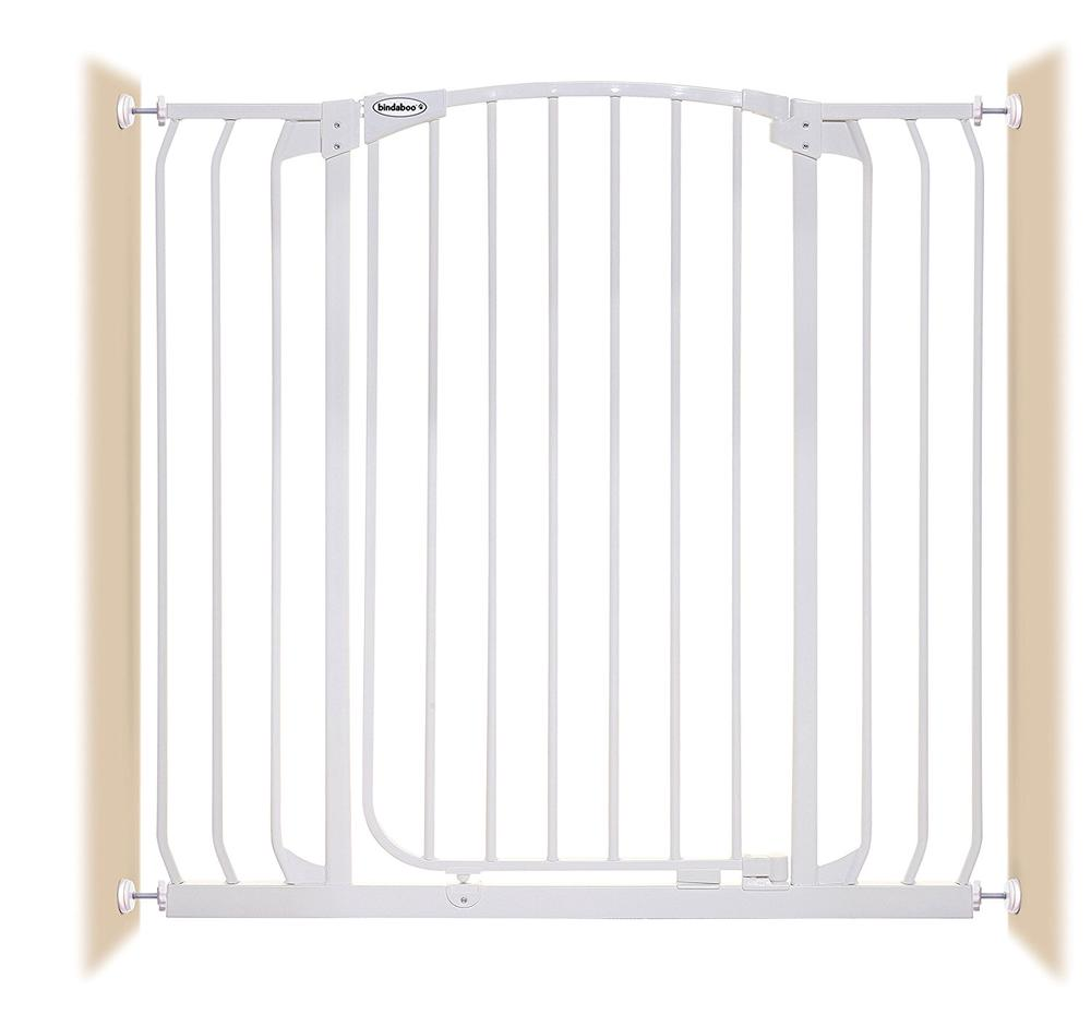 Bindaboo Extra-Tall & Extra-Wide Hallway Gate (White) - 1m