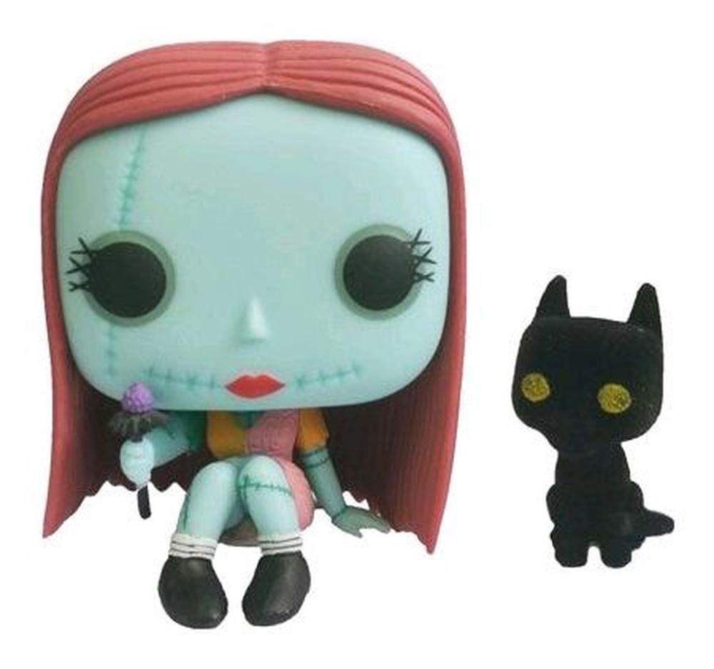 FunKo The Nightmare Before Christmas - Sally Seated Glow with Cat ...