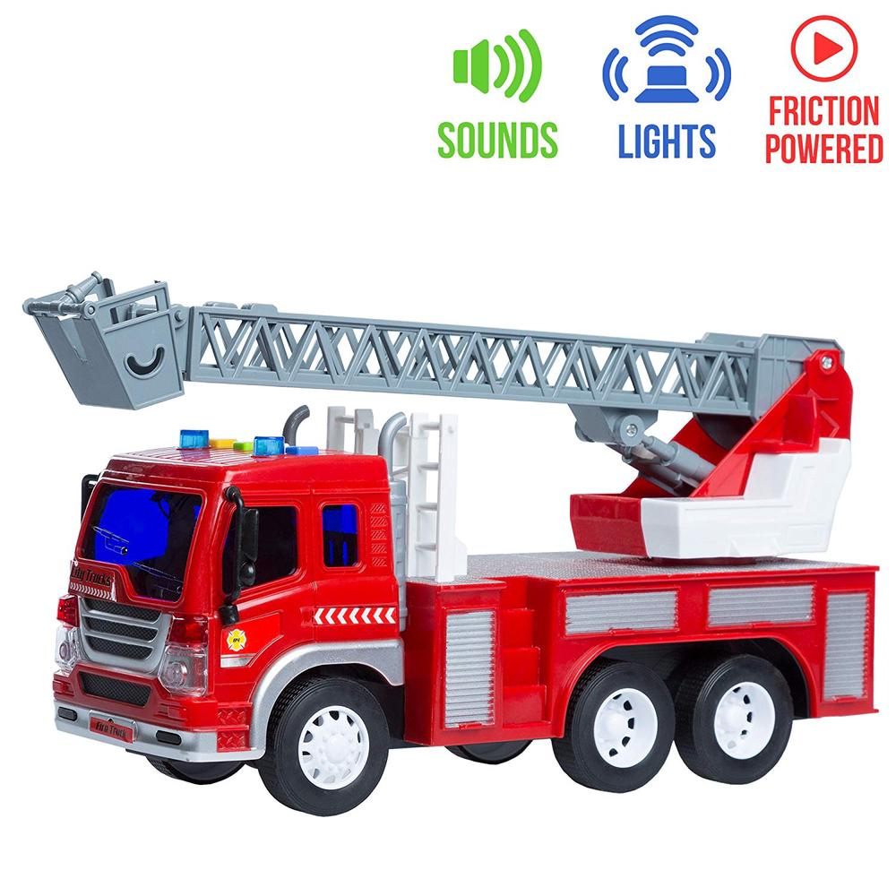 Barcaloo Lights & Sounds Friction Fire Engine