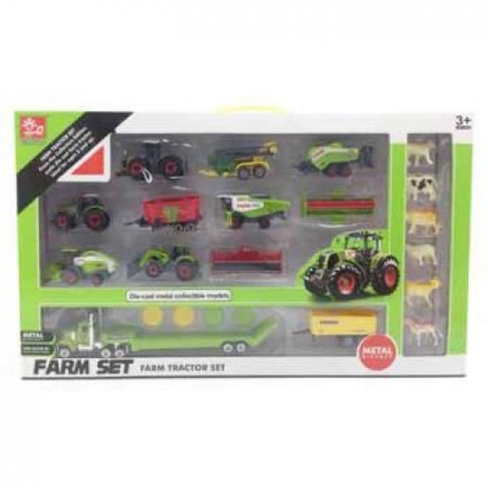 All Brands Farm Tractor Set, 22 Piece