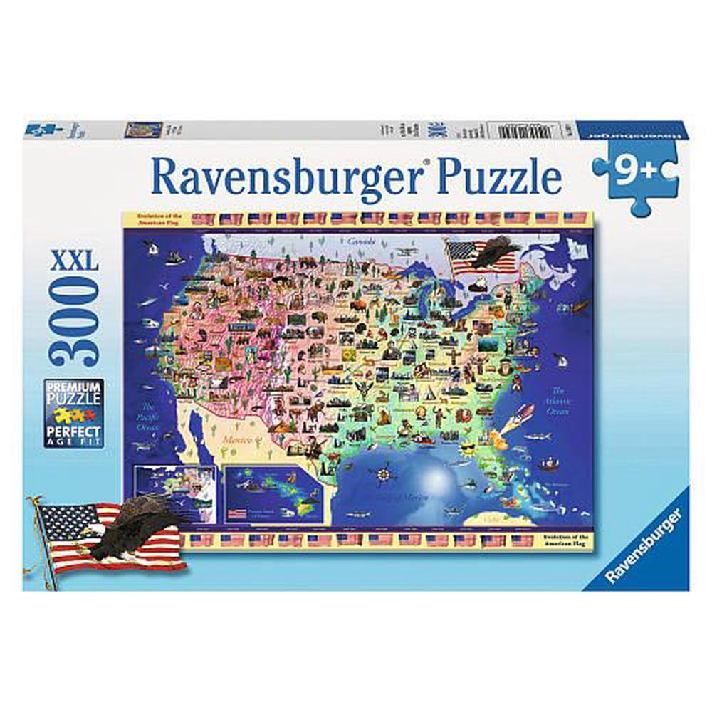 Ravensburger Usa Map - 300 Pieces Puzzle | Buy online at The Nile