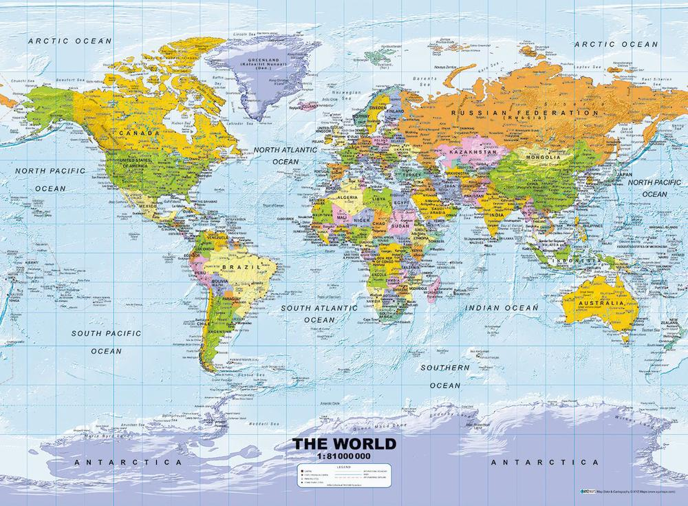Ravensburger 500 Piece Puzzle (Political World Map)