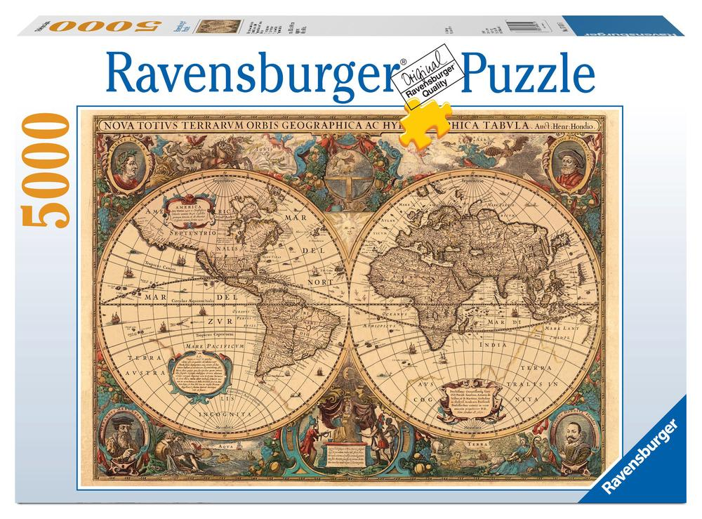 Ravensburger historical world map puzzle 5000 pieces buy online at ravensburger historical world map puzzle 5000 pieces gumiabroncs Image collections