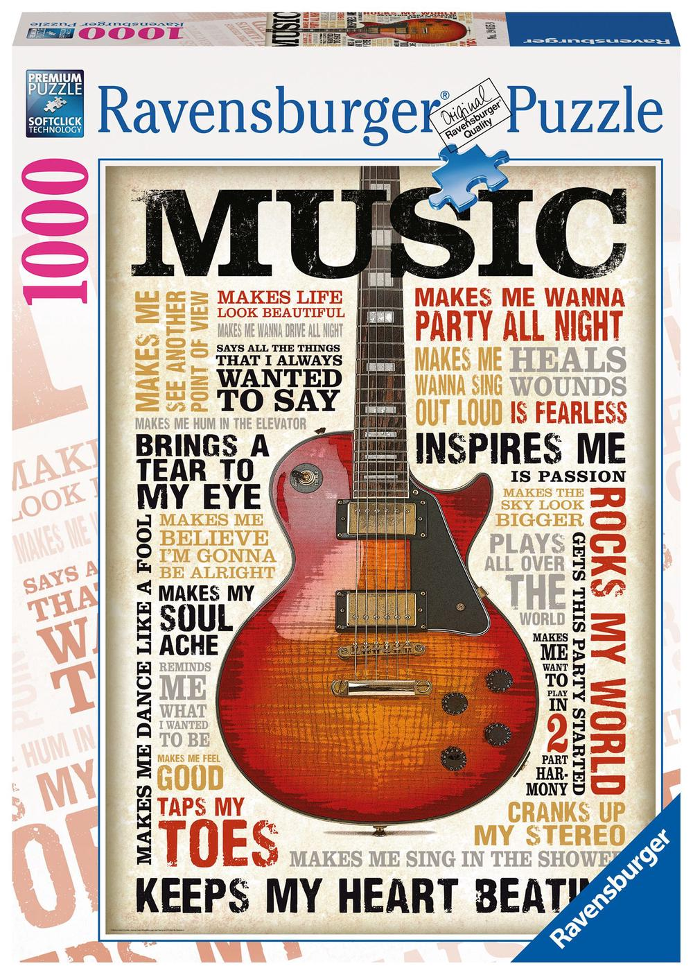 Ravensburger 1000 piece Puzzle (Passion for Music) | Buy online at