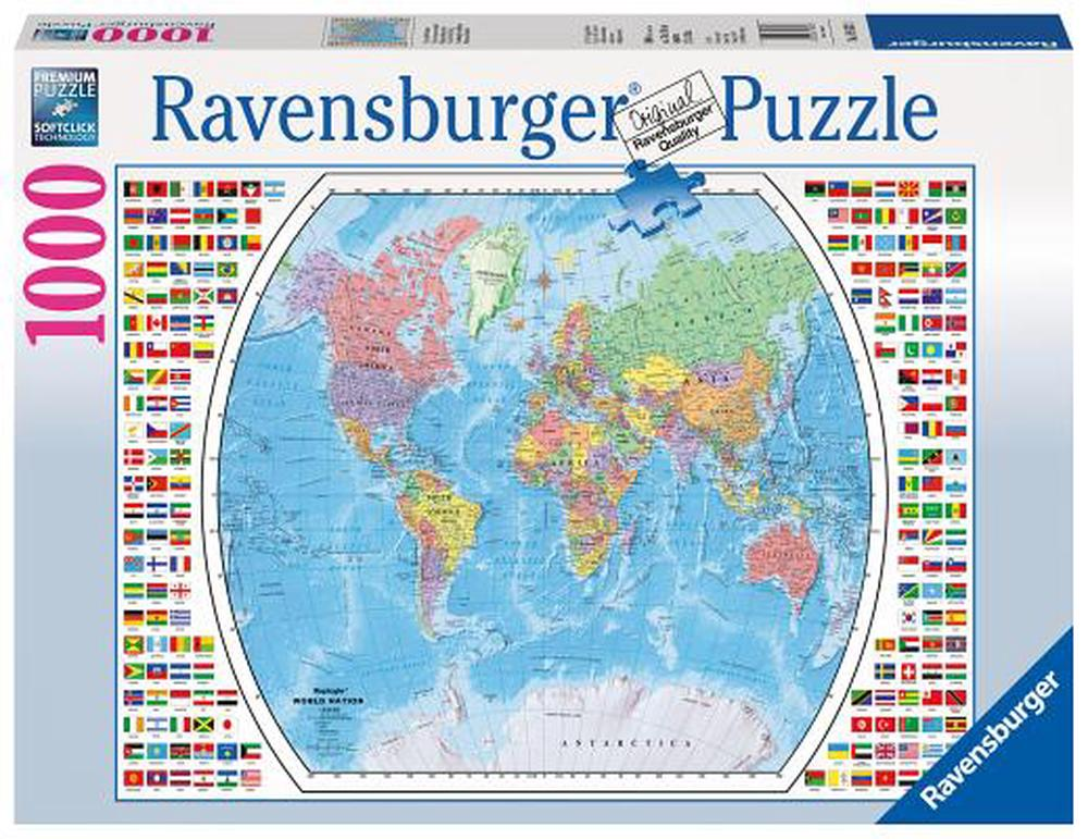 Ravensburger Political World Map Jigsaw Puzzle (1000 Piece) | Buy ...