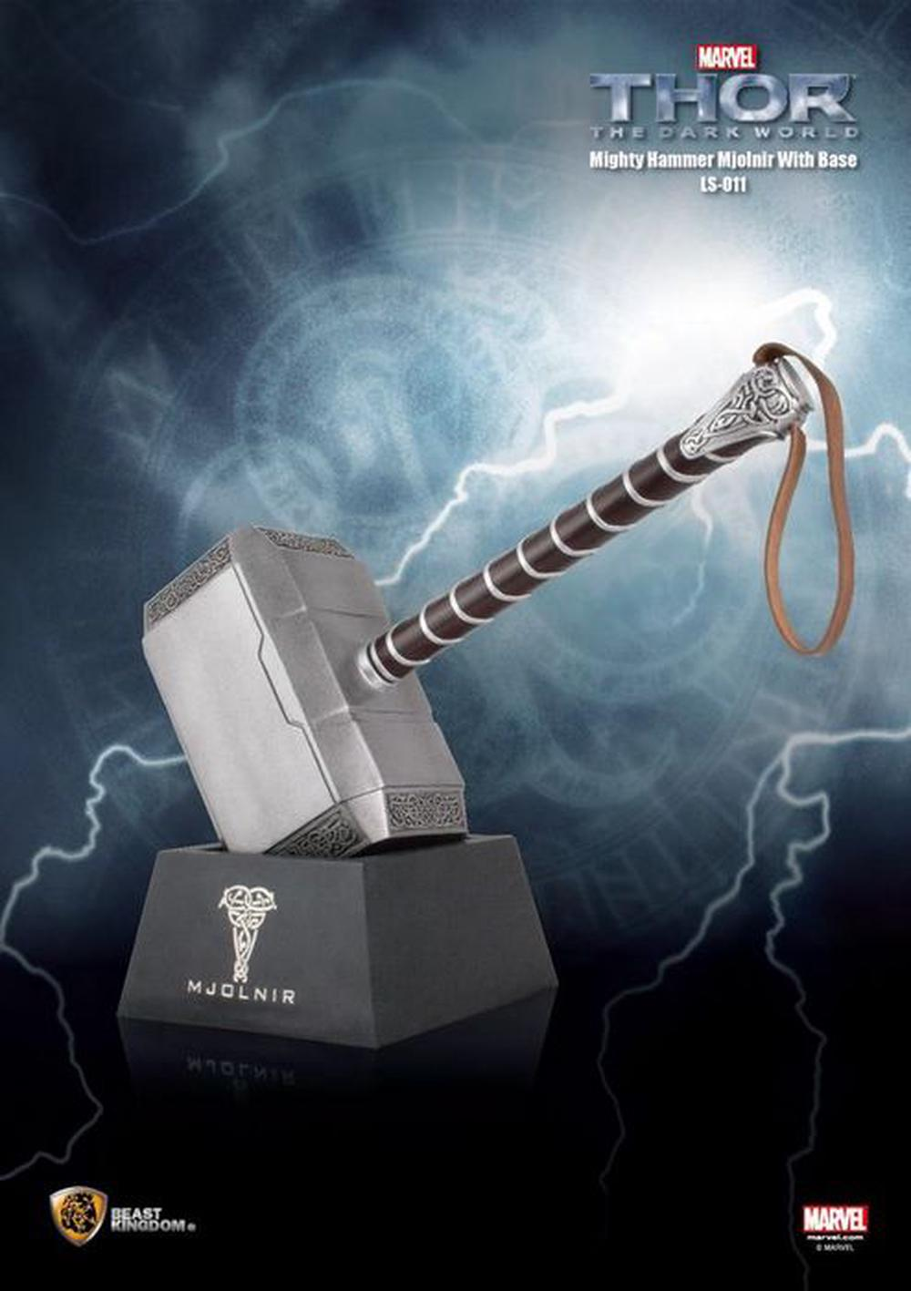 beast kingdom thor 2 the dark world mighty mjolnir hammer with
