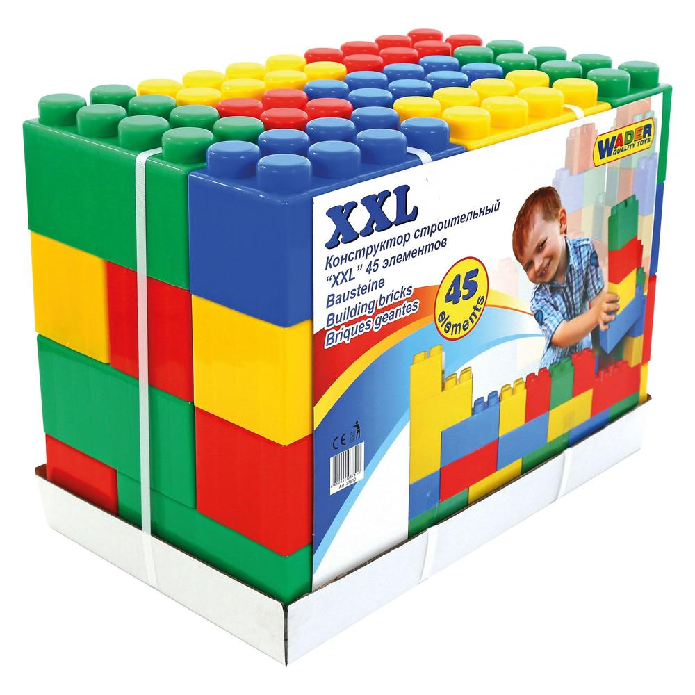 wader building bricks , 45 piece - xxl | buy online at the nile