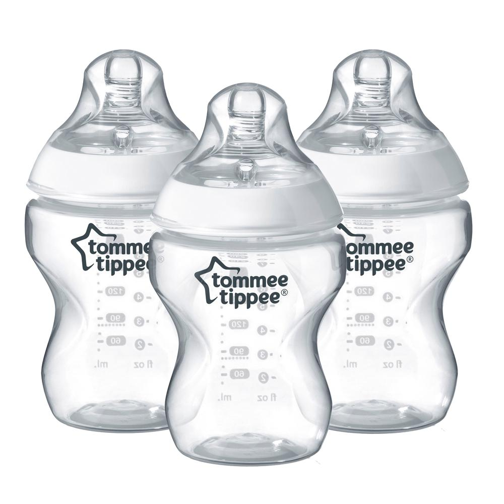 Tommee Tippee Closer To Nature Feeding Bottles, 3 Pack - 260mL