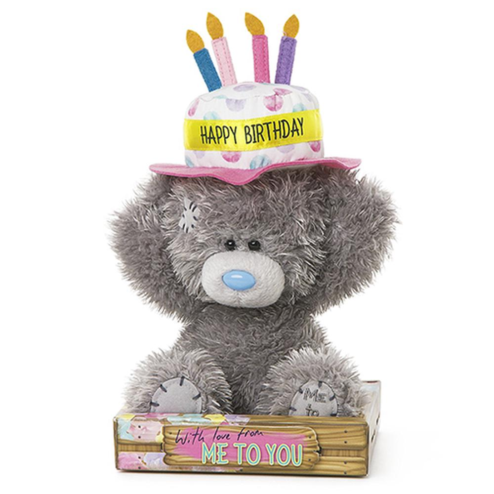 Birthday Cake Hat Teddy Bear By Me To You