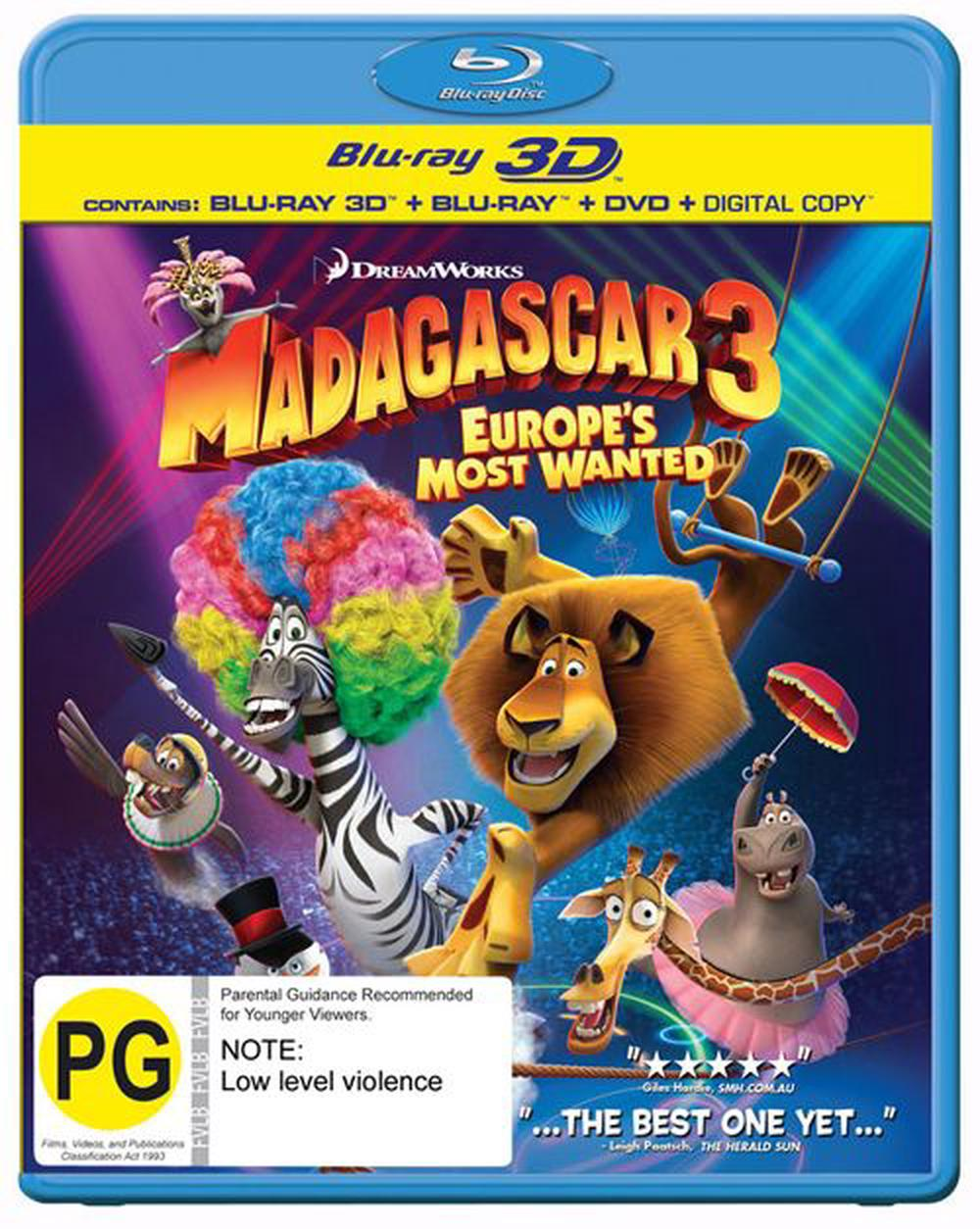 Madagascar 3: Europe's Most Wanted - 3D Superset (3D Blu-ray